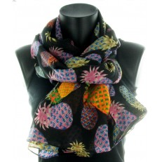 Foulard 100% polyester à Annanas