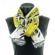 Foulard 100% coton, couleur jaune