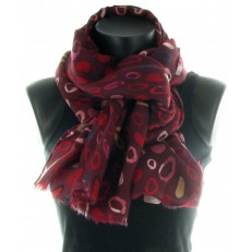Echarpe 100% viscose bordeaux