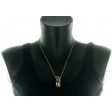 Collier à pendentif en résine
