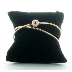 Bracelet demi-jonc en métal rosé