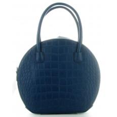 Sac en simili cuir bleu marine imitation python