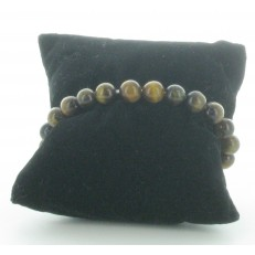 Bracelet élastiqué en pierres Oeil de Tigre