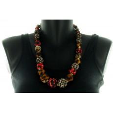 Collier de perles bicolores