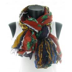 Foulard à bandes multi-motifs
