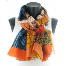 Foulard à dominante orange