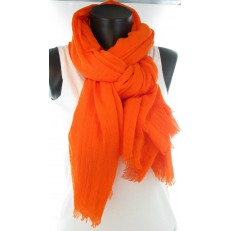 Foulard uni orange