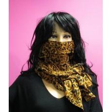 Foulard masque à motif léopard