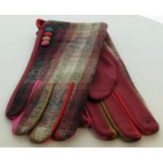 Gant fond imprimé tweed bordeaux