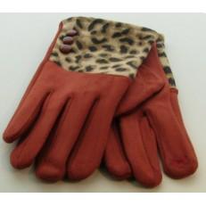 Gant rouille imprimé léopard